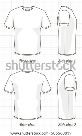 Tshirt Template Set Front Side Back Stock Vector (Royalty Free ...
