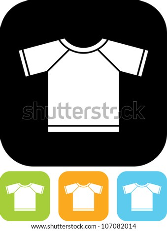 T-shirt - Vector icon isolated - stock vector