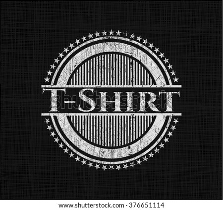 T-Shirt with chalkboard texture - stock vector
