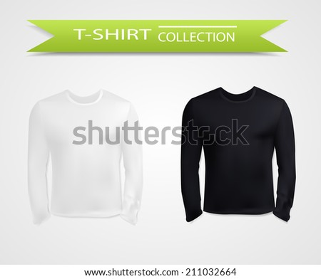 T-shirt with long sleeves collection,vector eps10 illustration - stock vector