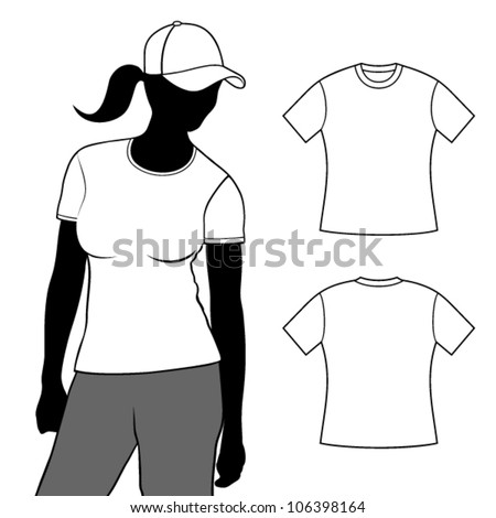 T-shirt. Woman t-shirt with short sleeves with body silhouette.