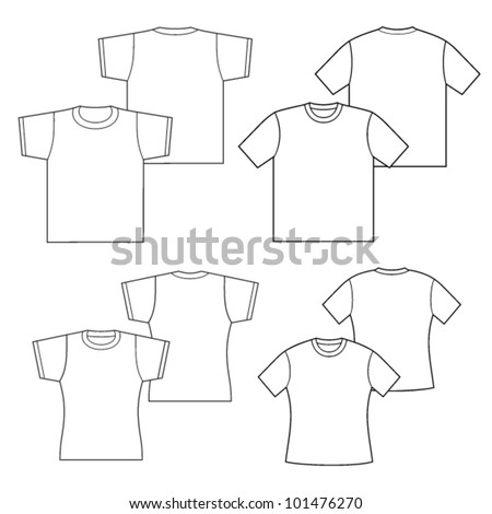 T-shirts for men and women. - stock vector