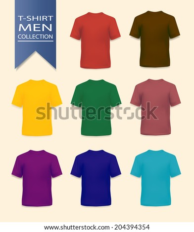 T-shirts realistic collection for men