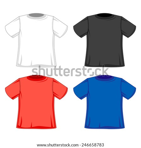 T-shirts styles, fashionable t-shirts designs four colors