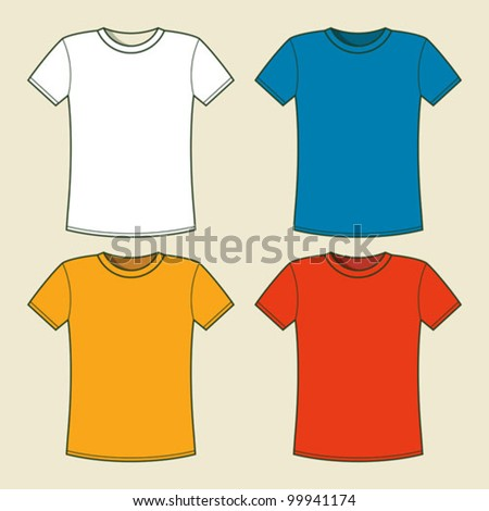 T-shirts template - stock vector