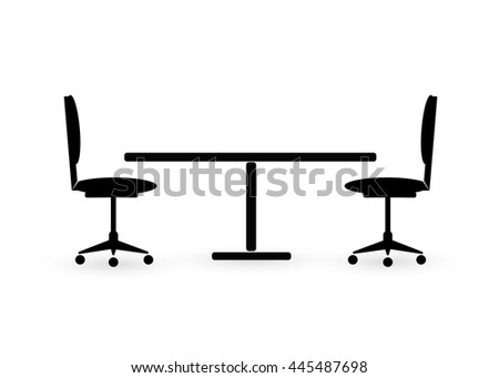 table chair icon, on white background