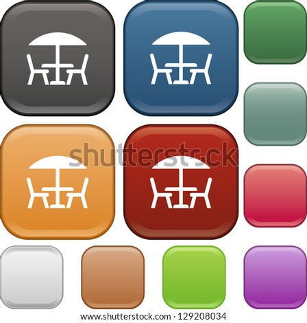 Table, chairs, icon, vector - stock vector