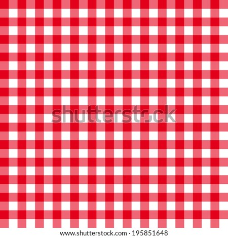 Table cloth seamless pattern red in line. vector illustration