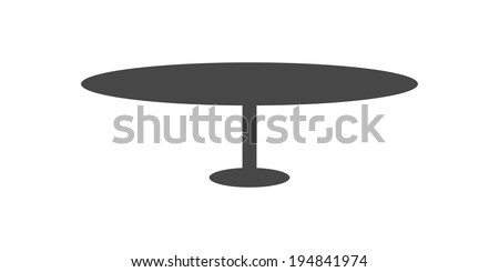 Table design isolated on white background