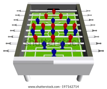 Table Football Soccer Game Perspective Vector 04 - stock vector