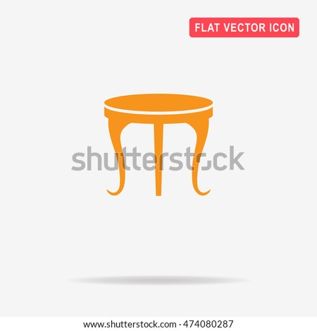 Table icon. Vector concept illustration for design.