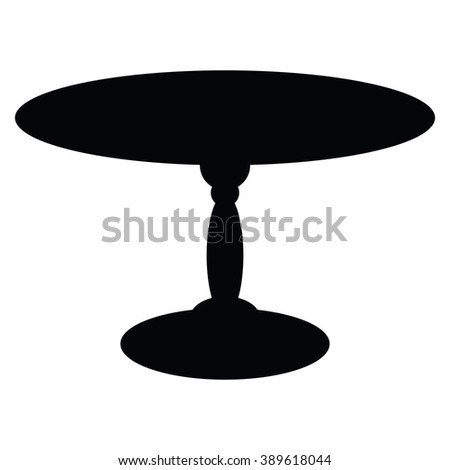 Table icon Vector Illustration on the white background.