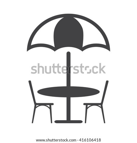 Table Icon Vector Illustration on the white background. - stock vector