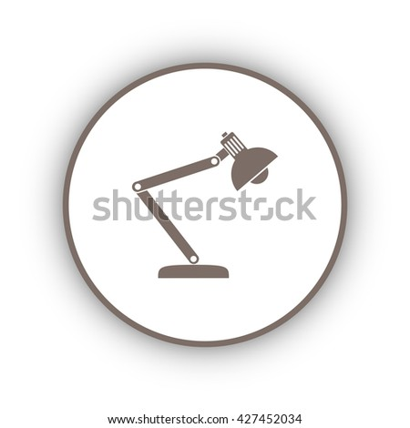table lamp icon - stock vector