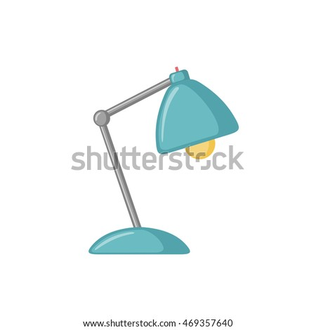 Table lamp icon in flat style isolated on white background. Vector illustration