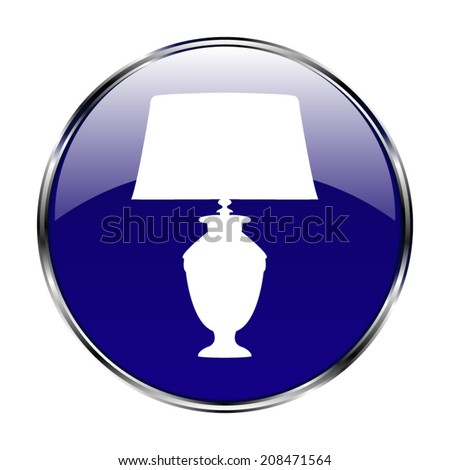Table lamp icon - vector button