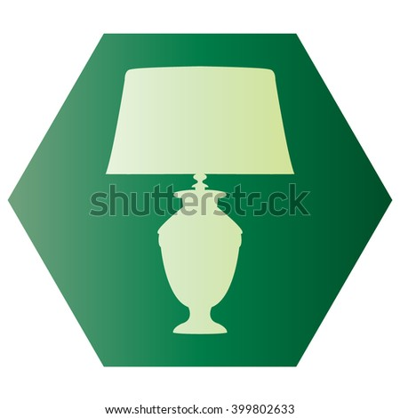 Table lamp vector, icon