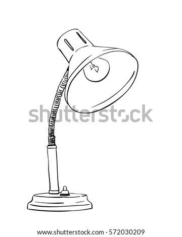 Table lamp vector sketch hand drawn stock vector 572030209 table lamp vector sketch hand drawn illustration isolated on white mozeypictures Image collections