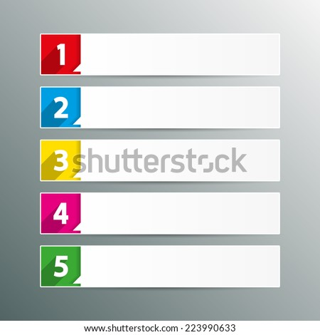 Table Contents Use Template Sequence Rank Stock Vector