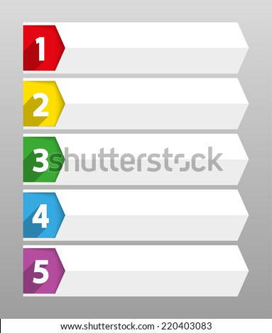 Table Contents Use Template Sequence Ranking Stock Vector