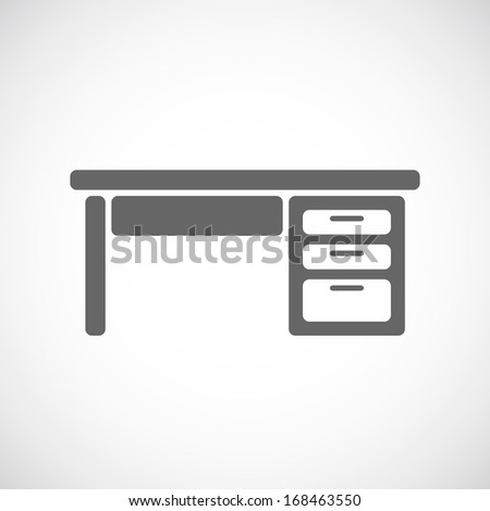 Table office  icon - stock vector