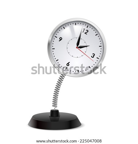 Table souvenir in form of clock on spring - stock vector