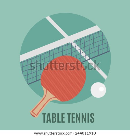 Table Tennis - stock vector