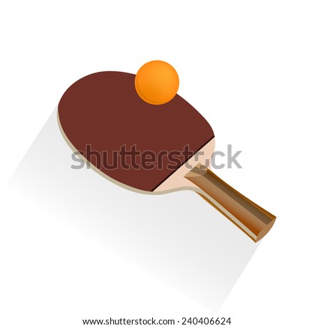 table tennis and ping pong, vector illustration - stock vector