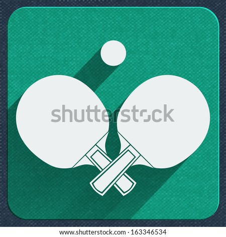 Table tennis icon vector illustration - stock vector
