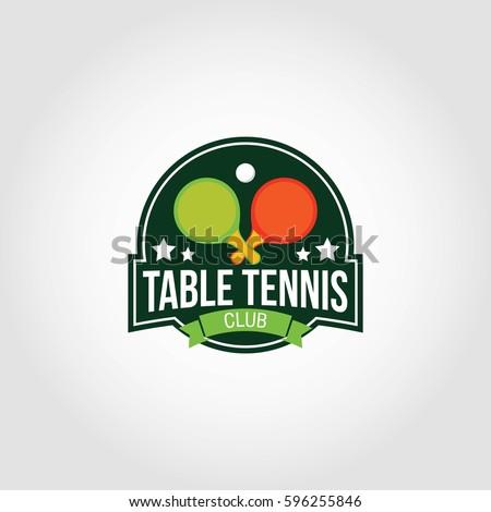 table tennis logo design vector stock vector 596255846