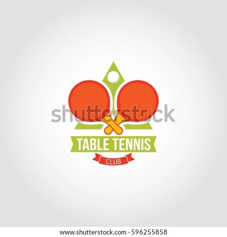 Tennis logo design vector stock vector 590989247 for Table design vector