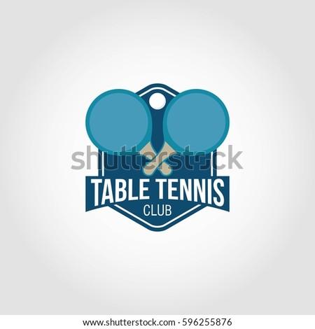 Table tennis logo design vector 596255876 for Table design vector