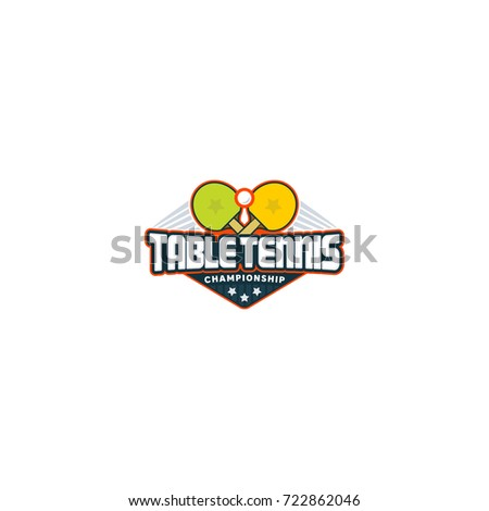 Table Tennis Logo Ping Pong Sport Stock Vector 722862046