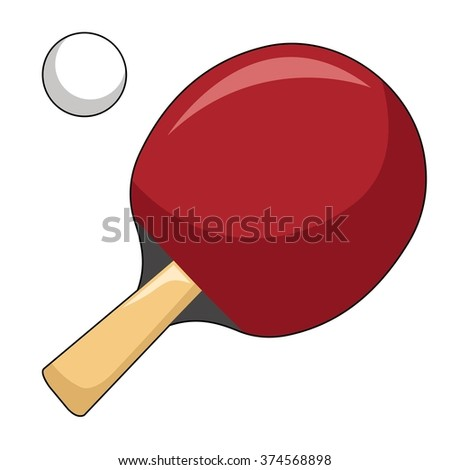 Table Tennis Paddle in White Background