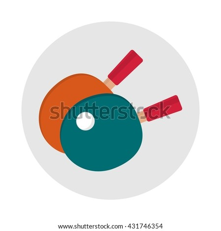 Table tennis rackets icon. Ping pong table rackets icon. Sports equipment items. Active lifestyle. Objects isolated on a white background. Flat vector illustration. - stock vector