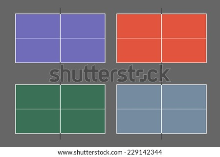 Table tennis table - stock vector