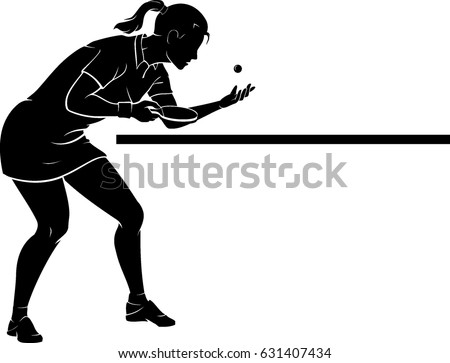 Table Tennis Silhouette Stock Images Royalty Free Images