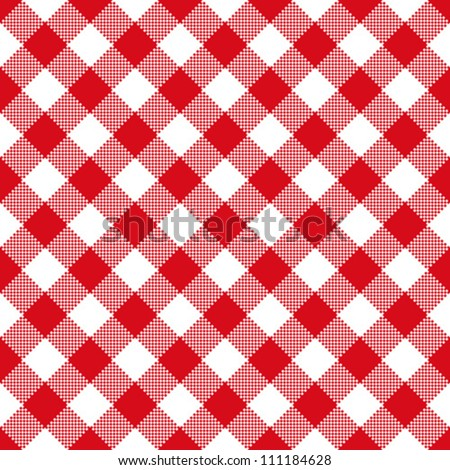 Tablecloth pattern - stock vector