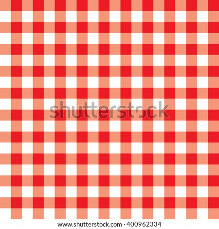 Tablecloth red checks