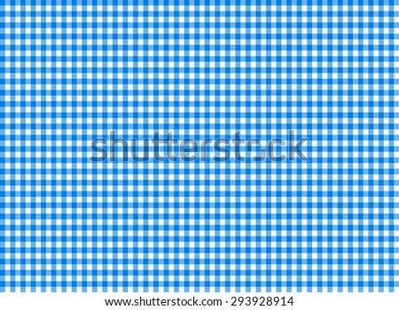 Tablecloth seamless pattern blue vector illustration - stock vector