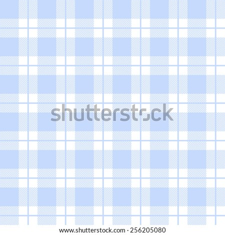 tablecloth woven texture - light blue checkered pattern - stock vector