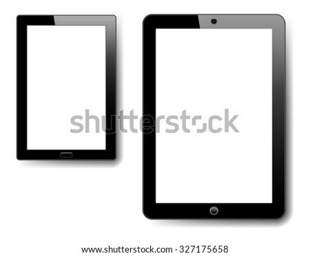 Tablet and Notebook - stock vector