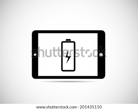 Tablet Battery Power - stock vector