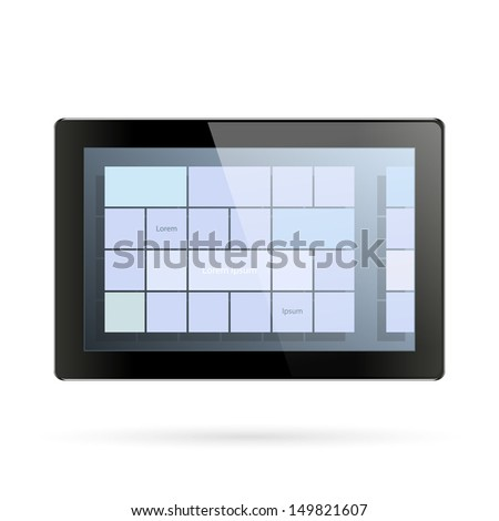 Tablet blank with an operation system on the screen
