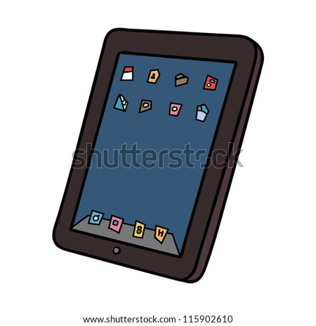 tablet computer - stock vector