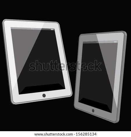 tablet computer design. vector illustration - stock vector