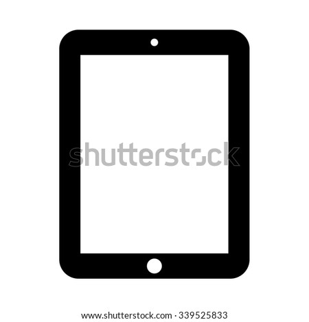 Tablet Computer icon . Vector illustration