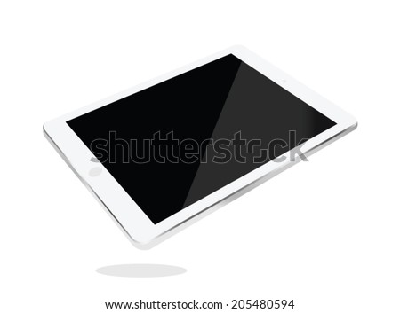 Tablet computer . isolated on white. Vector illustration  - stock vector