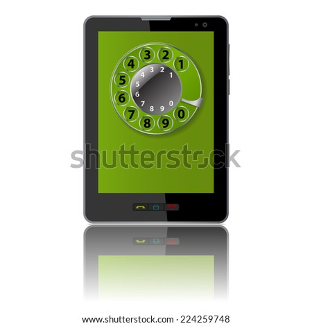 Tablet computer & mobile phone, vector.