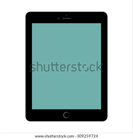 Tablet Computer Vector Illustration